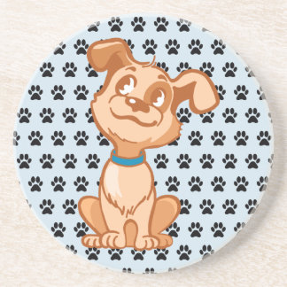 Cute Doggie Sandstone Drink Coaster
