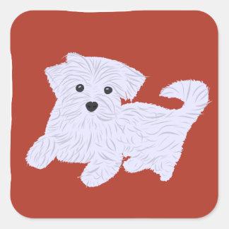Cute Doggie Square Sticker