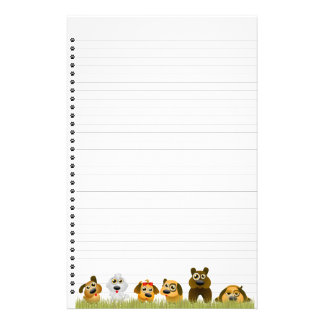 Cute Dogs Lined Stationery