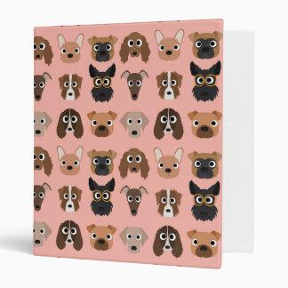Cute Dogs on Pink Vinyl Binders
