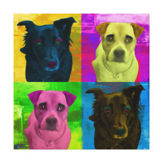 Cute Dogs Pop Art Canvas Print