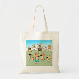 Cute Dogs Rule tote bag