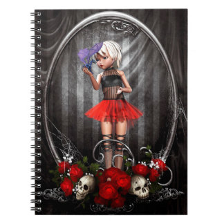 Cute  Doll with Dragon and Skulls Notebook