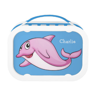 Cute Dolphin custom name lunch boxes