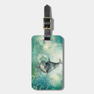 Cute dolphin luggage tag