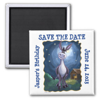Cute Donkey Party Center Save the Date Fridge Magn Magnet