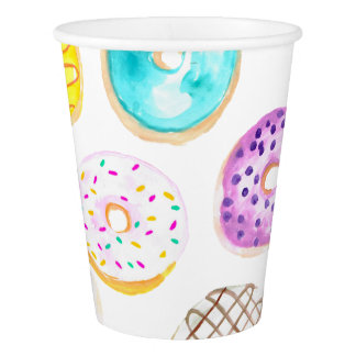 Cute donut birthday party cup