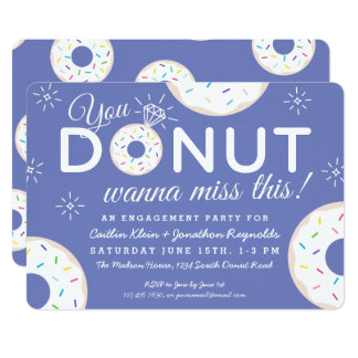 Cute Donut Engagement Party Invitations