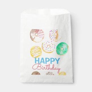 Cute donut kid birthday party favor bag