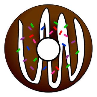 Cute Donut Sleepover Birthday Invitation
