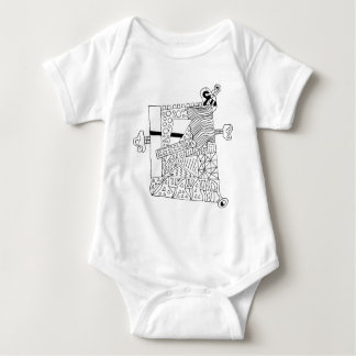 Cute Doodle Creature Baby Bodysuit