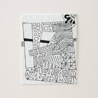 Cute Doodle Creature Jigsaw Puzzle