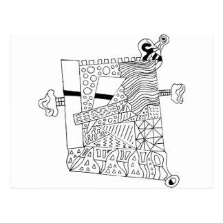 Cute Doodle Creature Postcard
