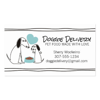 Cute doodle dog puppy homemade pet food chef business card