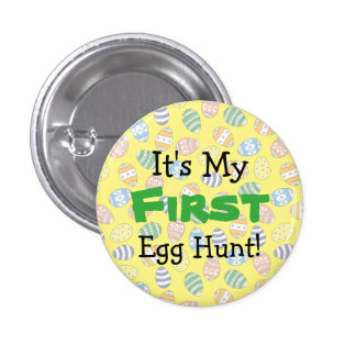 Cute Doodle Easter Eggs 1 Inch Round Button