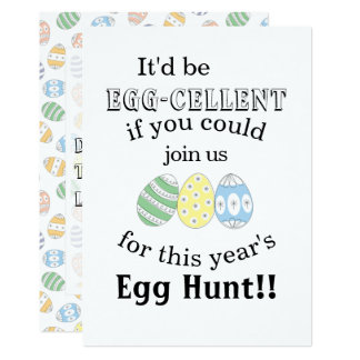 Cute Doodle Easter Eggs Card