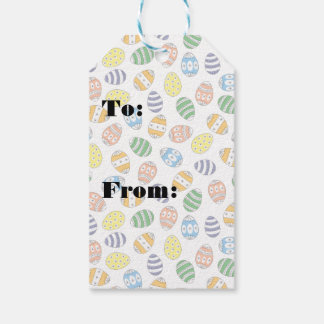 Cute Doodle Easter Eggs Gift Tags