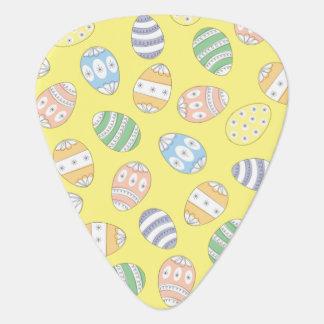 Cute Doodle Easter Eggs Guitar Pick