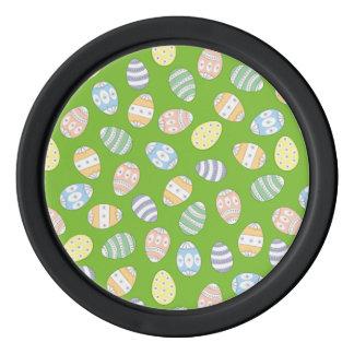 Cute Doodle Easter Eggs Poker Chip Set