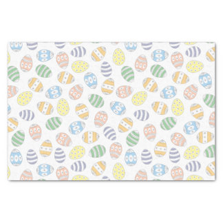 Cute Doodle Easter Eggs Tissue Paper