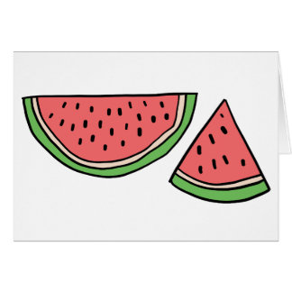 CUTE DOODLE WATERMELON CARD