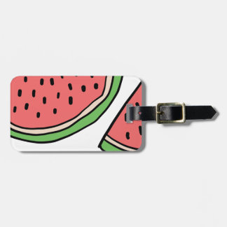 CUTE DOODLE WATERMELON LUGGAGE TAG