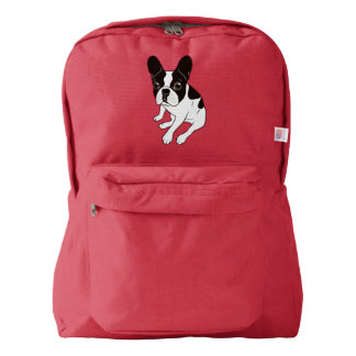 Cute double hooded pied Frenchie is chilling Backpack