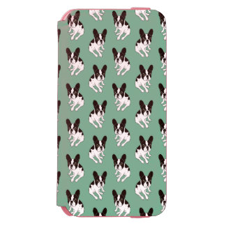 Cute double hooded pied Frenchie is chilling Incipio Watson™ iPhone 6 Wallet Case