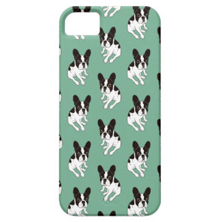 Cute double hooded pied Frenchie is chilling iPhone 5 Covers