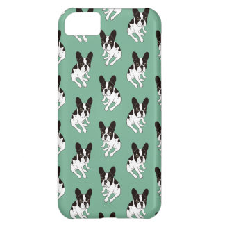 Cute double hooded pied Frenchie is chilling iPhone 5C Cases