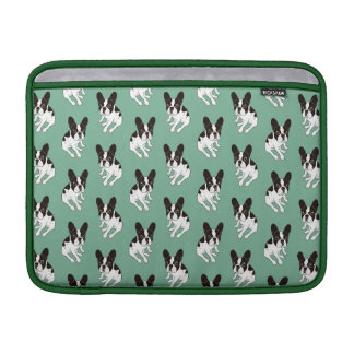 Cute double hooded pied Frenchie is chilling MacBook Sleeve