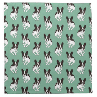 Cute double hooded pied Frenchie is chilling Napkin