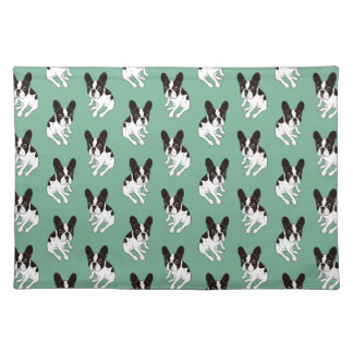 Cute double hooded pied Frenchie is chilling Placemat