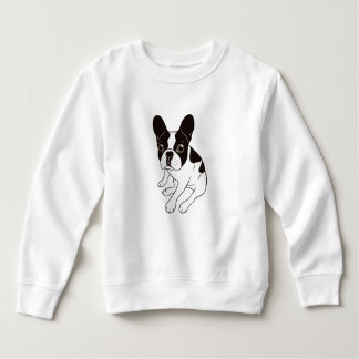 Cute double hooded pied Frenchie is chilling Sweatshirt