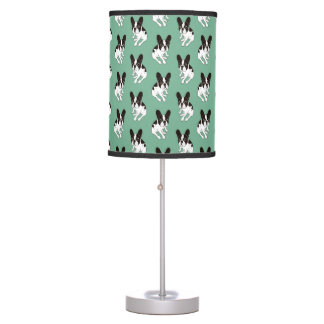 Cute double hooded pied Frenchie is chilling Table Lamp