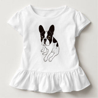 Cute double hooded pied Frenchie is chilling Toddler T-shirt