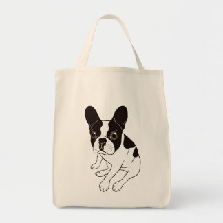 Cute double hooded pied Frenchie is chilling Tote Bag