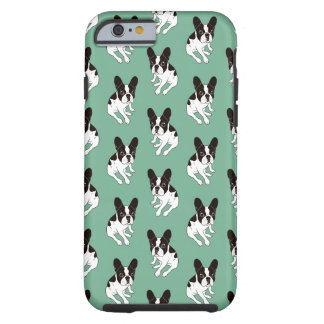 Cute double hooded pied Frenchie is chilling Tough iPhone 6 Case