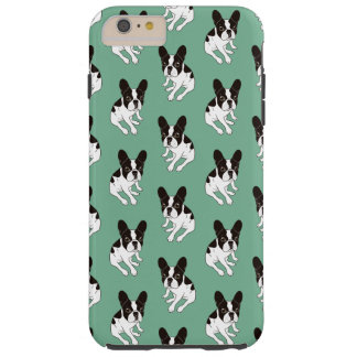Cute double hooded pied Frenchie is chilling Tough iPhone 6 Plus Case