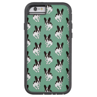 Cute double hooded pied Frenchie is chilling Tough Xtreme iPhone 6 Case