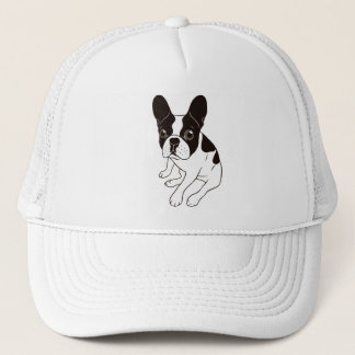 Cute double hooded pied Frenchie is chilling Trucker Hat