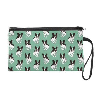 Cute double hooded pied Frenchie is chilling Wristlet
