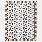 Cute Doxies Dachshund Pattern Blanket
