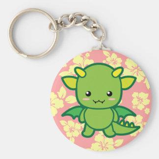 Cute Dragon Basic Round Button Keychain