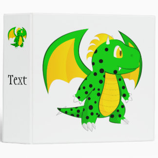 Cute Dragon Kids 3 Ring Binders