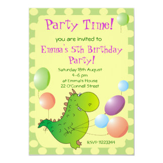 Cute Dragon Kids Party Invitation,Children's Party Card
