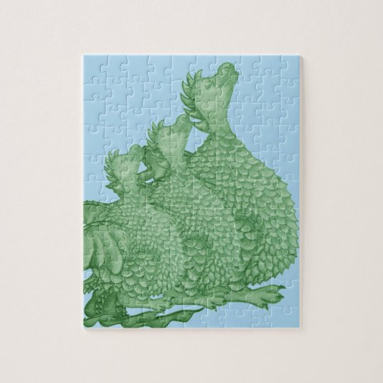 cute dragon mythical and fantasy creature art jigsaw puzzle
