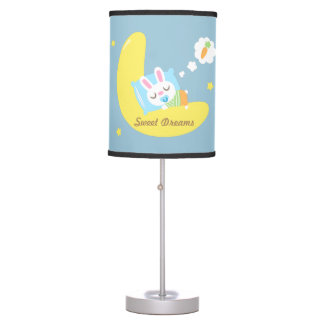 Cute Dreamland Baby Bunny Kids Nursery Room Decor Table Lamp