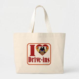 Cute Drive In Love Jumbo Tote Bag