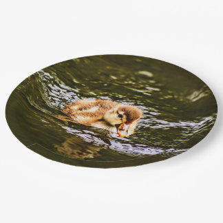 cute duckling 9 inch paper plate